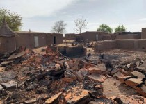 A general view shows the damage at the site of an attack on the Dogon village of Sobane Da, Mali June 11, 2019. Picture taken June 11, 2019. REUTERS/Malick Konate  NO RESALES. NO ARCHIVES.