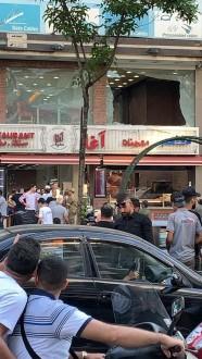 اطلاق نار على واجهات مطعم عند أوتستراد السيد هادي في الضاحية الجنوبية
