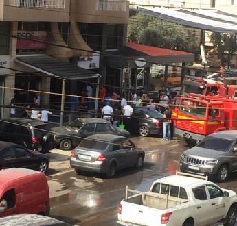 حريق داخل محل في كوسبا والاضرار مادية