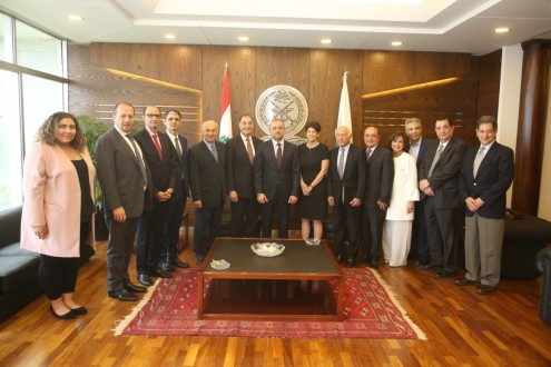 بو صعب التقى وفد مجموعة العمل الاميركية من أجل لبنان