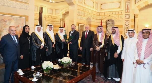 الحريري عرض الاوضاع مع وفد مجلس الشورى السعودي واستقبل بستاني وسفير طاجيكستان