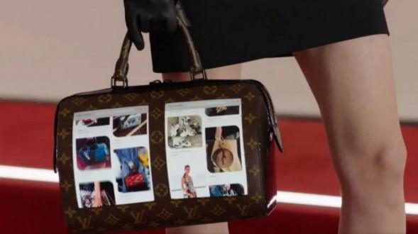 حقيبة يد بشاشات عرض
