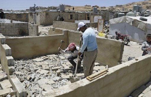 Syrian refugees in Arsal camp forced to destroy homes