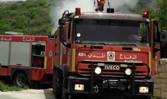 حريق في خراج بلدة بليدا الحدودية
