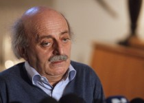 Lebanese Druze leader Walid Jumblatt speaks during a news conference at his residence in Beirut, January 21, 2011. Jumblatt said Friday his group was committed to support Hezbollah ahead of parliamentary talks Monday to pick a new prime minister. REUTERS/ Sharif Karim    (LEBANON - Tags: POLITICS) - RTXWVKI