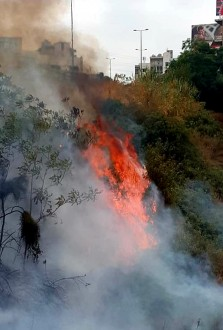الدفاع المدني أخمد حريقاً في زوق مصبح