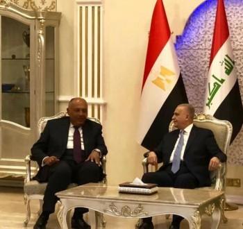 وزيرا خارجية مصر والعراق يجريان مباحثات حول أزمات المنطقة