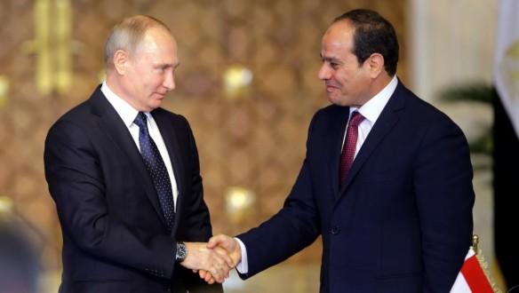 """بوتين يلتقي السيسي على هامش قمة """"روسيا – إفريقيا"""" في سوتشي"""