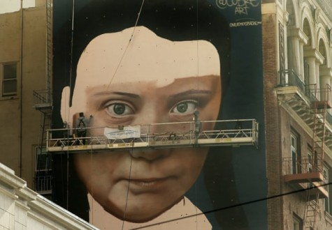 Giant Greta Thunberg mural to watch over San Francisco's downtown
