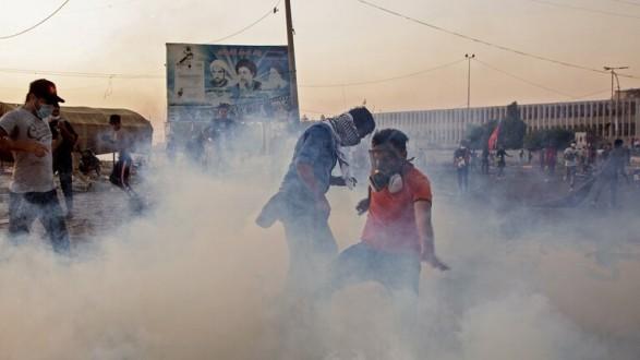 """مجموعة """"منفلتة"""" تفجر أحد أبراج المراقبة شرقي بغداد"""