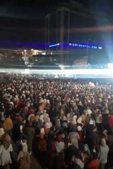 وفود من طرابلس تشارك في إعتصام صيدا