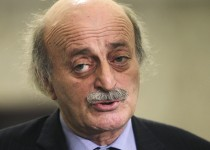 Lebanon's Druze leader Walid Jumblatt speaks during a news conference after meeting Lebanon's President Michel Suleiman at the presidential palace in Baabda, near Beirut, during the first of the two-day parliamentary consultations to choose a new prime minister, January 24, 2011. Jumblatt said he backed Sunni politician Najib Mikati in talks to name a new prime minister on Monday, giving him the parliamentary majority to lead a new government. REUTERS/ Mohamed Azakir    (LEBANON - Tags: POLITICS HEADSHOT) - RTXX01Z