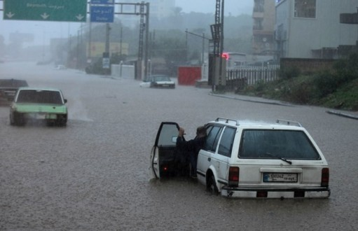 Heavy rains cause havoc on Lebanon's roads