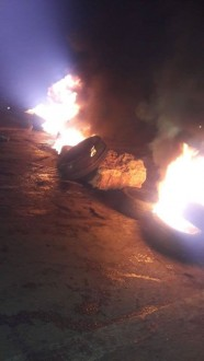 محتجون قطعوا طريق الضنية- طرابلس عند أكثر من نقطة