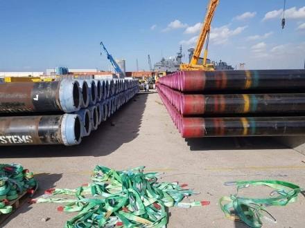 بالصور.. معدات التنقيب عن النفط تصل الى بيروت