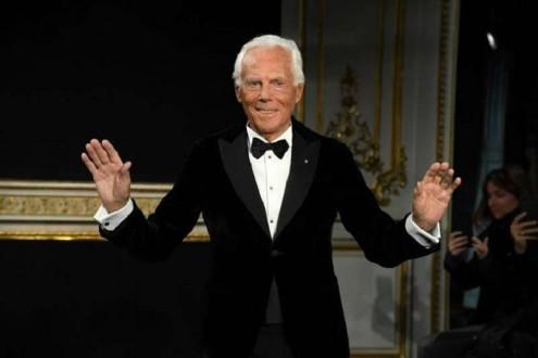جورجيو أرماني يتبرّع بـ 1.4 مليون دولار لإيطاليا
